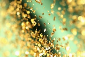 gold green glitter bokeh hero