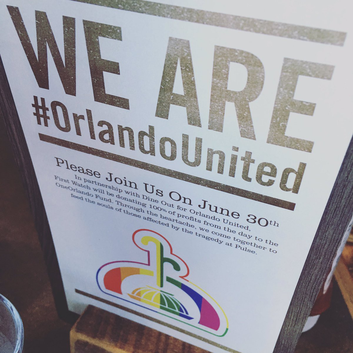 Dine Out for Orlando United - FRLA