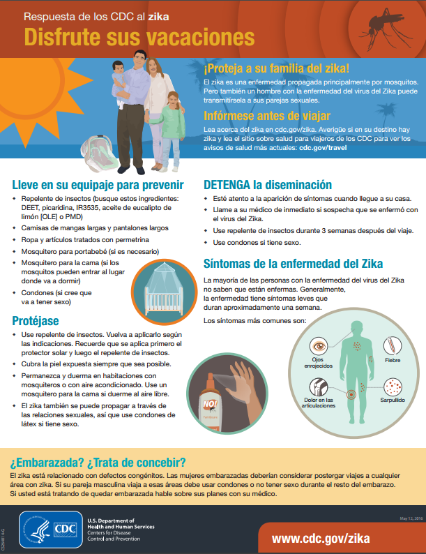 enjoy vacation infographic espanol