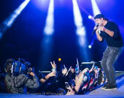 Runaway Country Music Fest, singer sings to excited crowd