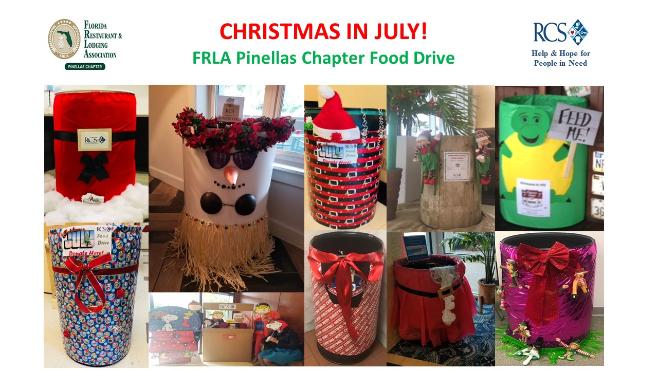 Christmas In July Themed Food.Pinellas Chapter Christmas In July Decorations Frla