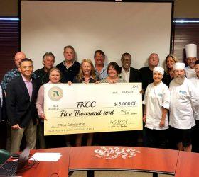 FRLA Monroe FKCC Scholarship Check Presentation